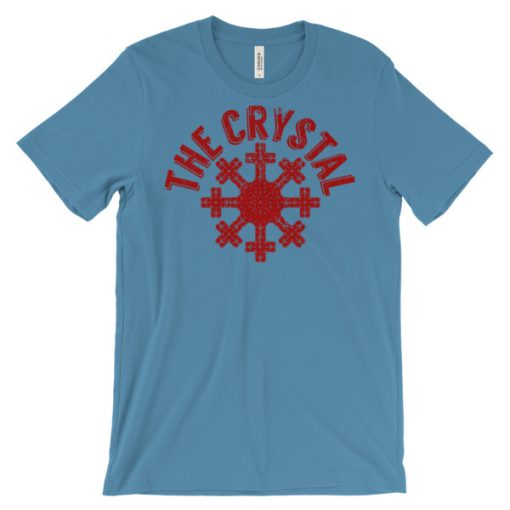 Snow Crystal T-Shirt Ocean Blue