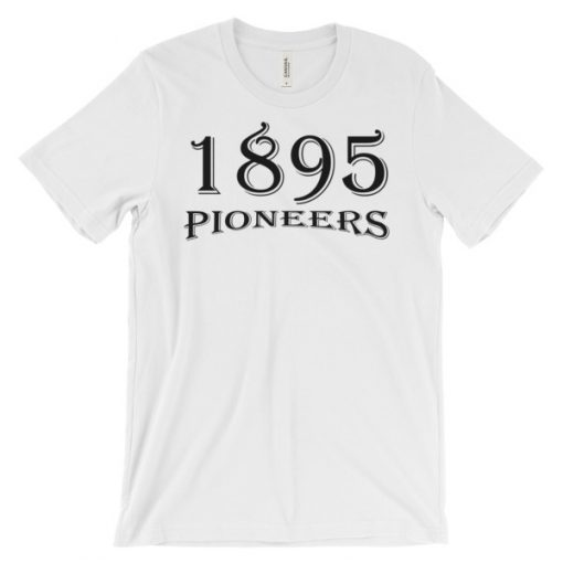Unisex 1895 Pioneers Ski T-Shirt White (Front)