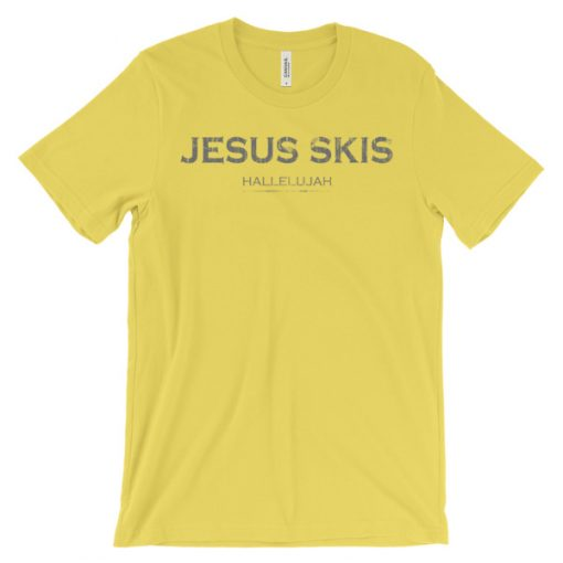 Jesus Skis T-Shirt Yellow