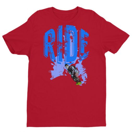 Ride Snowboarding T-Shirt Red