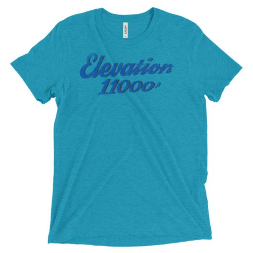 Elevation 11000 Snowbird T-Shirt Aqua