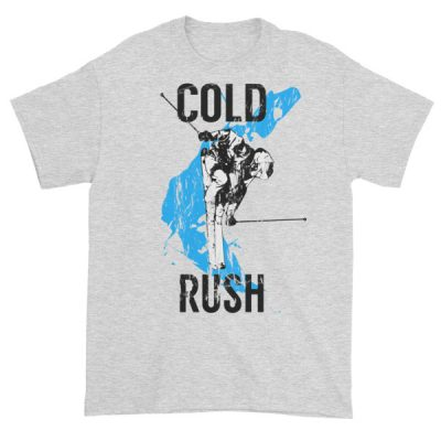 Men's Skier T-Shirt Cold Rush Ash