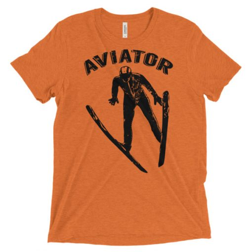 Aviator T-Shirt Orange Triblend