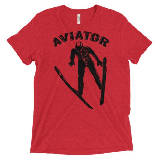 Aviator T-Shirt Red Triblend