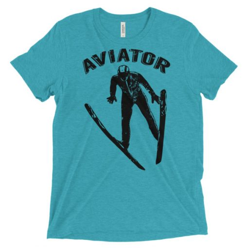 Aviator T-Shirt Teal Triblend