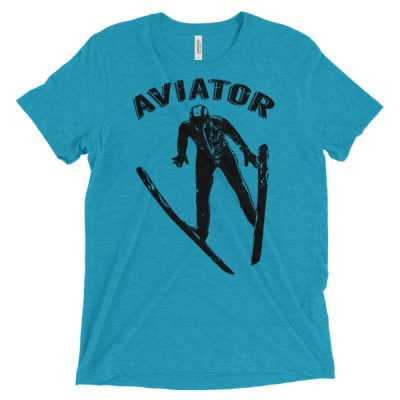 Aviator T-Shirt Aqua Triblend