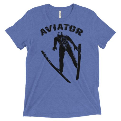 Aviator T-Shirt Blue Triblend