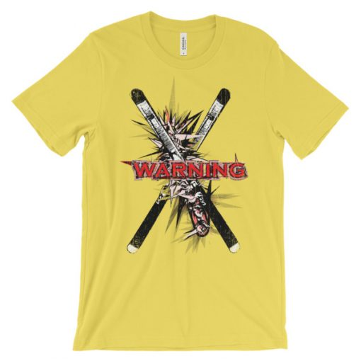 Ski Cross T-Shirt Yellow