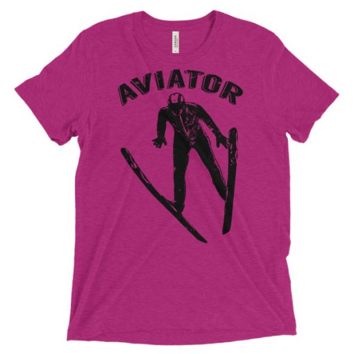 Aviator T-Shirt Berry Triblend