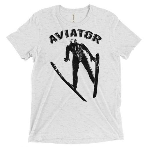 Aviator T-Shirt White Fleck Triblend