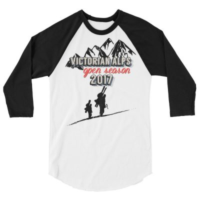 Victorian Alps 3/4 Raglan White/Black