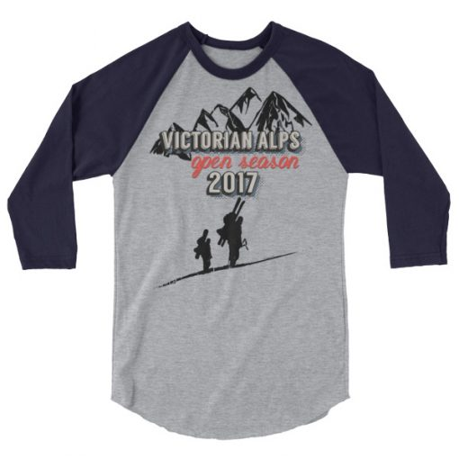 Victorian Alps 3/4 Raglan Heather Grey/Navy