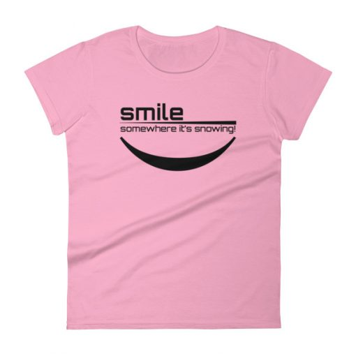 Smile It's Snowing Women's T-Shirt Charity Pink