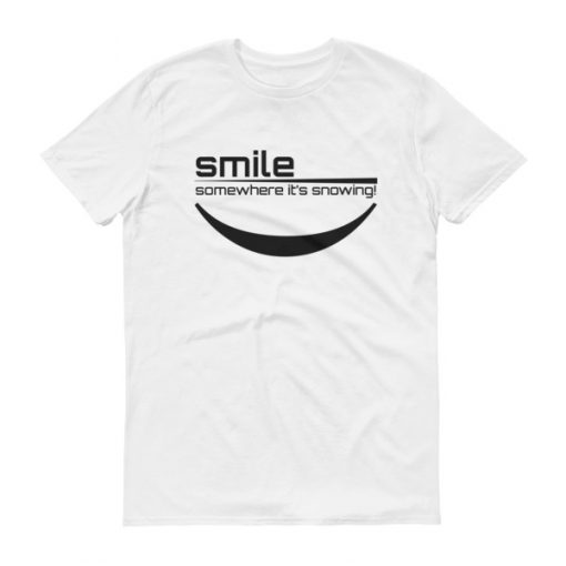 Smile Somewhere It's Snowing Men's T-Shirt White