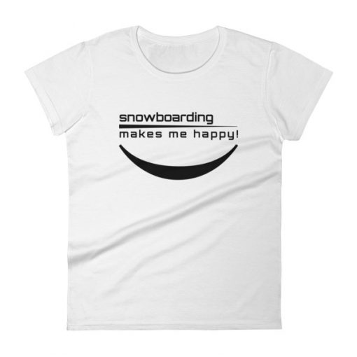 Happy Snowboarding Women's T-Shirt White