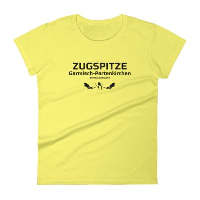 Zugspitze T-Shirt Women's Spring Yellow