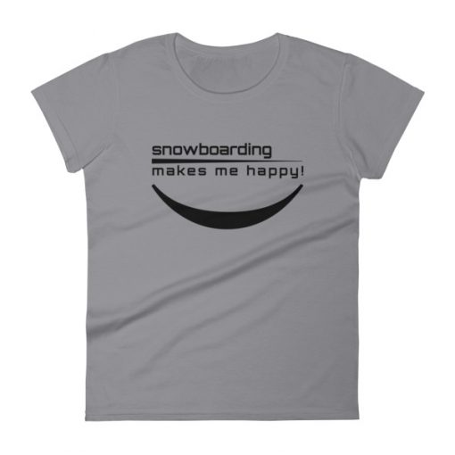 Happy Snowboarding Women's T-Shirt Storm Grey