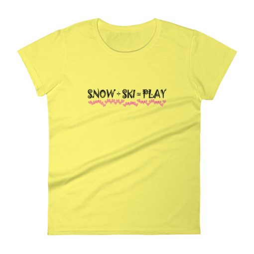 Snow Play T-Shirt Spring Yellow