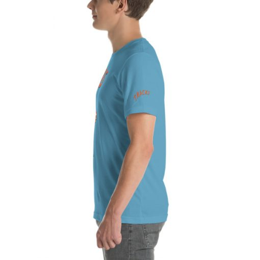 First Tracks Ski & Snowboard T-Shirt Ocean Blue