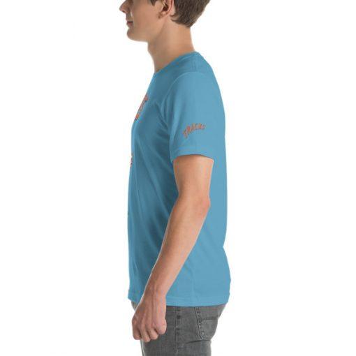 First Tracks Ski & Snowboard T-Shirt Ocean Blue